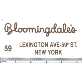Decal 1/16 Bloomingdales - Gold