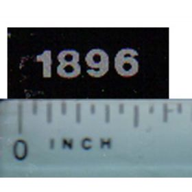 Decal 1/16 Case IH 1896 Model Numbers (silver on black)