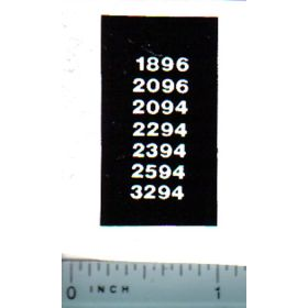 Decal 1/32 Case 94/96 Series Model Numbers