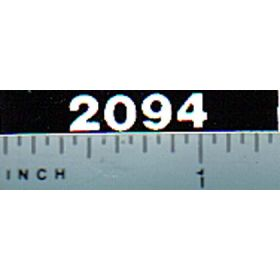 Decal 1/16 Case 2094 Model Numbers (white on black)