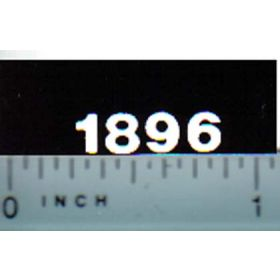 Decal 1/16 Case 1896 Model Numbers (white on black)
