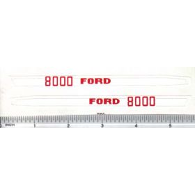 Decal 1/12 Ford 8000 Hood Stripes