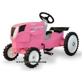 New Holland T7.260 MFD Pedal Tractor pink