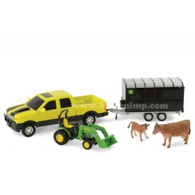 1/32 Pickup w/Cattle Trailer & JD Loader Tractor
