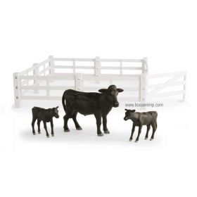 1/16 Big Farm Fence with cows Set