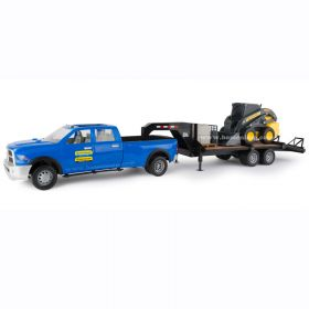 1/16 Big Farm Dodge Ram 3500 Pickup with trailer & NH Skid Loader