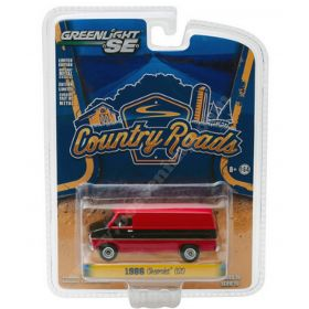 1/64 Chevy Van 1986 black and red