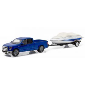 1/64 Ford F-150 Lariat 2015 with boat & trailer