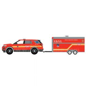 1/64 Ford Explorer 2016 with FDNY Command Trailer