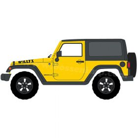 1/64 Jeep Wrangler 2015 Willys Wheeler