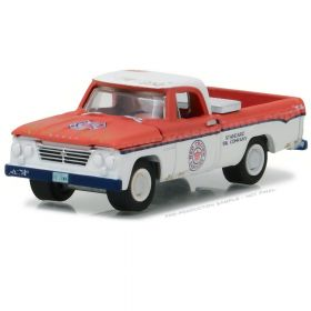 1/64 Dodge Pickup D-100 1963 Red Crown Gasoline