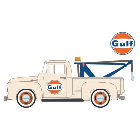 1/64 Ford F-100 1956 Tow Truck Gulf Series 4