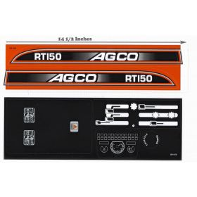 Decal AGCO-RT-150 Pedal Tractor