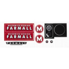 Decal Farmall M Pedal Tractor Decal set