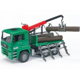 1/16 MAN TGA Timber Truck w/Logs, plastic