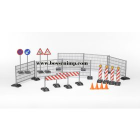 1/16 Accessory Set Construction Site Barricades