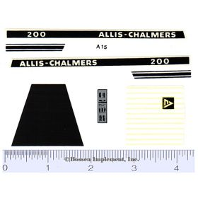 Decal 1/16 Allis Chalmers 200 Set
