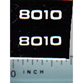 Decal 1/16 Allis Chalmers 8010 Model Numbers (white on black)