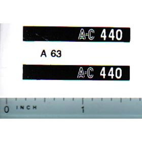Decal 1/16 Allis Chalmers 440 Model Numbers
