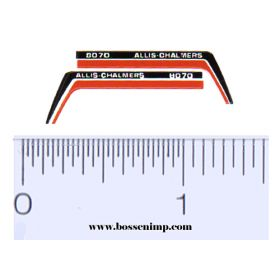 Decal 1/64 Allis Chalmers 8070 Hood Stripes