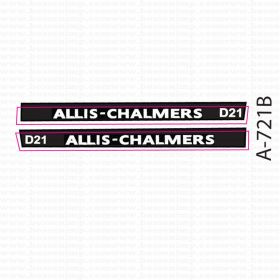 Decal 1/64 Allis Chalmers D-21 Set white on black