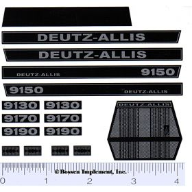 Decal 1/16 Deutz Allis 9130, 9150, 9190 Set
