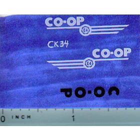 Decal 1/16 CO-OP E-4 Set