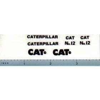 Decal 1/16 Caterpillar No 12 Grader Set (black)