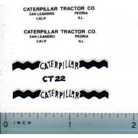 Decal Caterpillar Logo (black, white)