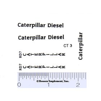 Decal 1/16 Caterpillar RD7 Set (black)
