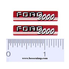 Decal 1/12 Ford 2000 (Red & Gray)