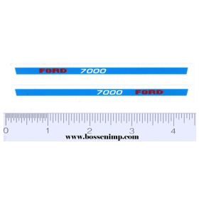 Decal 1/12 Ford 7000 Hood Stripe