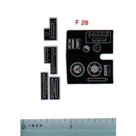 Decal 1/12 Ford 8000 Dash & Console Set