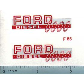 Decal 1/12 Ford 6000 Diesel (red)