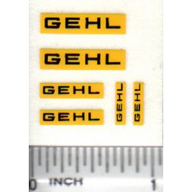 Decal Gehl Set - Black on Yellow