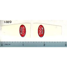 Decal 1/16 Farmall 560 Diesel Front Panel
