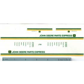 Decal 1/64 John Deere Parts Express Truck Set