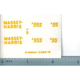 Decal 1/16 Masse Harris 55 or 555