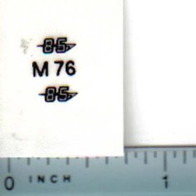 Decal 1/16 Massey Harris 85 Model Numbers