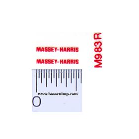 Decal Massey-Harris Logo Red