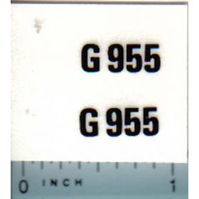 Decal 1/16 Minneapolis Moline G955 Model Numbers