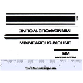 Decal 1/16 Minneapolis Moline Model Hot Rod