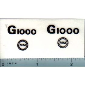 Decal 1/16 Minneapolis Moline G1000 Model Numbers