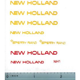 Decal 1/16 New Holland Set Yellow Sperry Rand