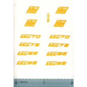 Decal 1/32 NH Combine TR Series Model Numbers Set
