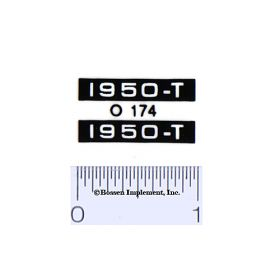 Decal 1/16 Oliver 1950-T Model Numbers