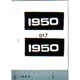 Decal 1/16 Oliver 1950 Model Numbers