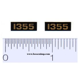 Decal 1/16 Oliver 1355 Model Numbers (Pair)