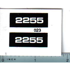Decal 1/16 Oliver 2255 Model Numbers