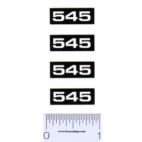 Decal 1/16 Oliver 545 Combine Model Numbers (4)